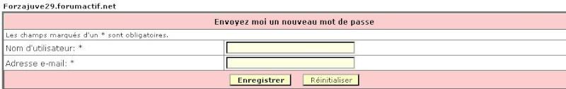 Oublie de mot de passe et nom d'utilisateur Oublie11