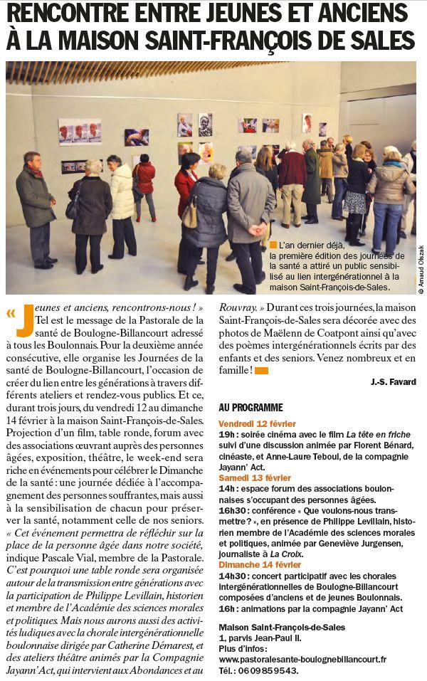 Evènements proposés par la Maison Saint François de Sales Clipb121