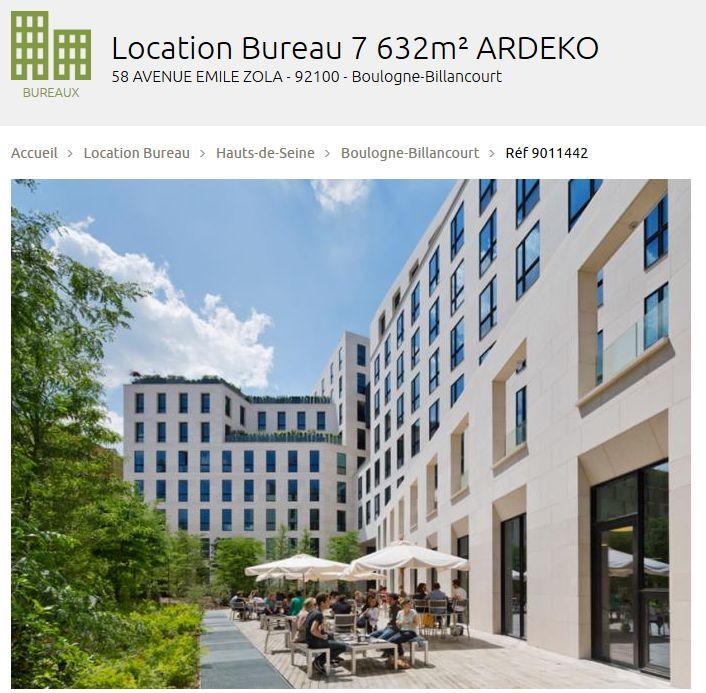 Immeuble petra ardeko a4oa for Location bureau 64