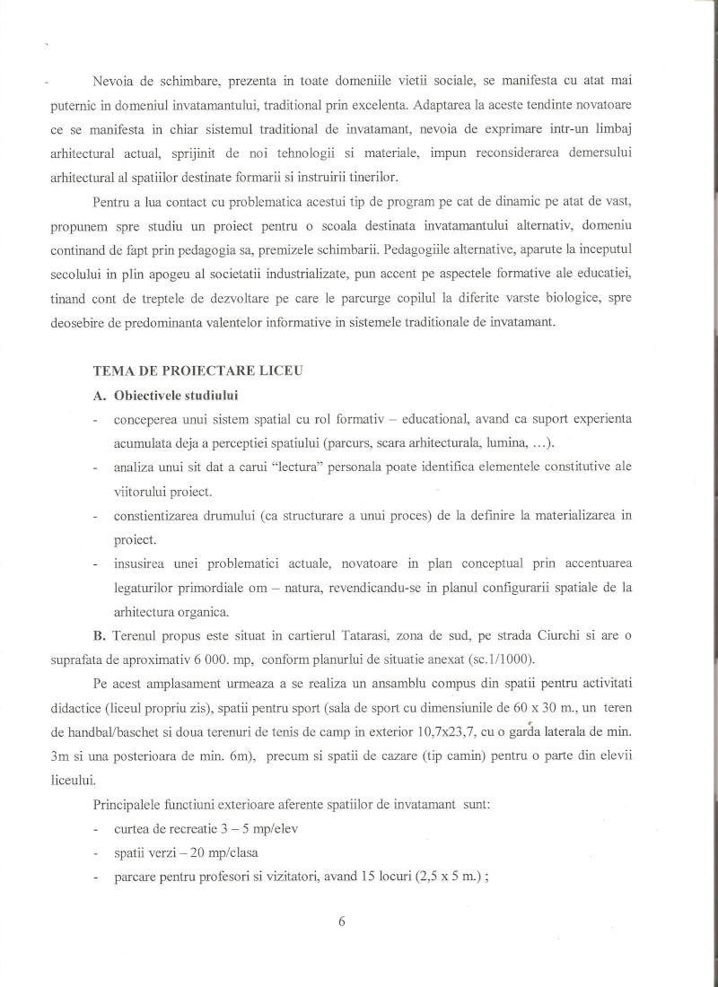 Anul III 2009/2010 - Liceu de Arhitectura - proiect predat 00510