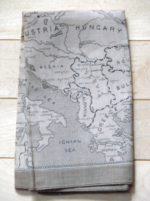 Silk Escape Map Hankie 00610