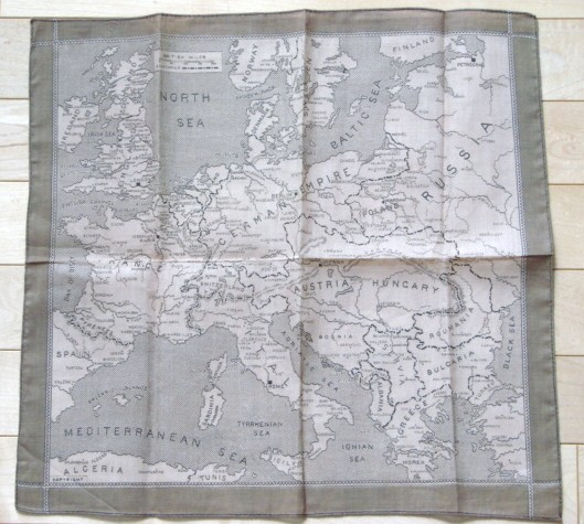 Silk Escape Map Hankie 00710
