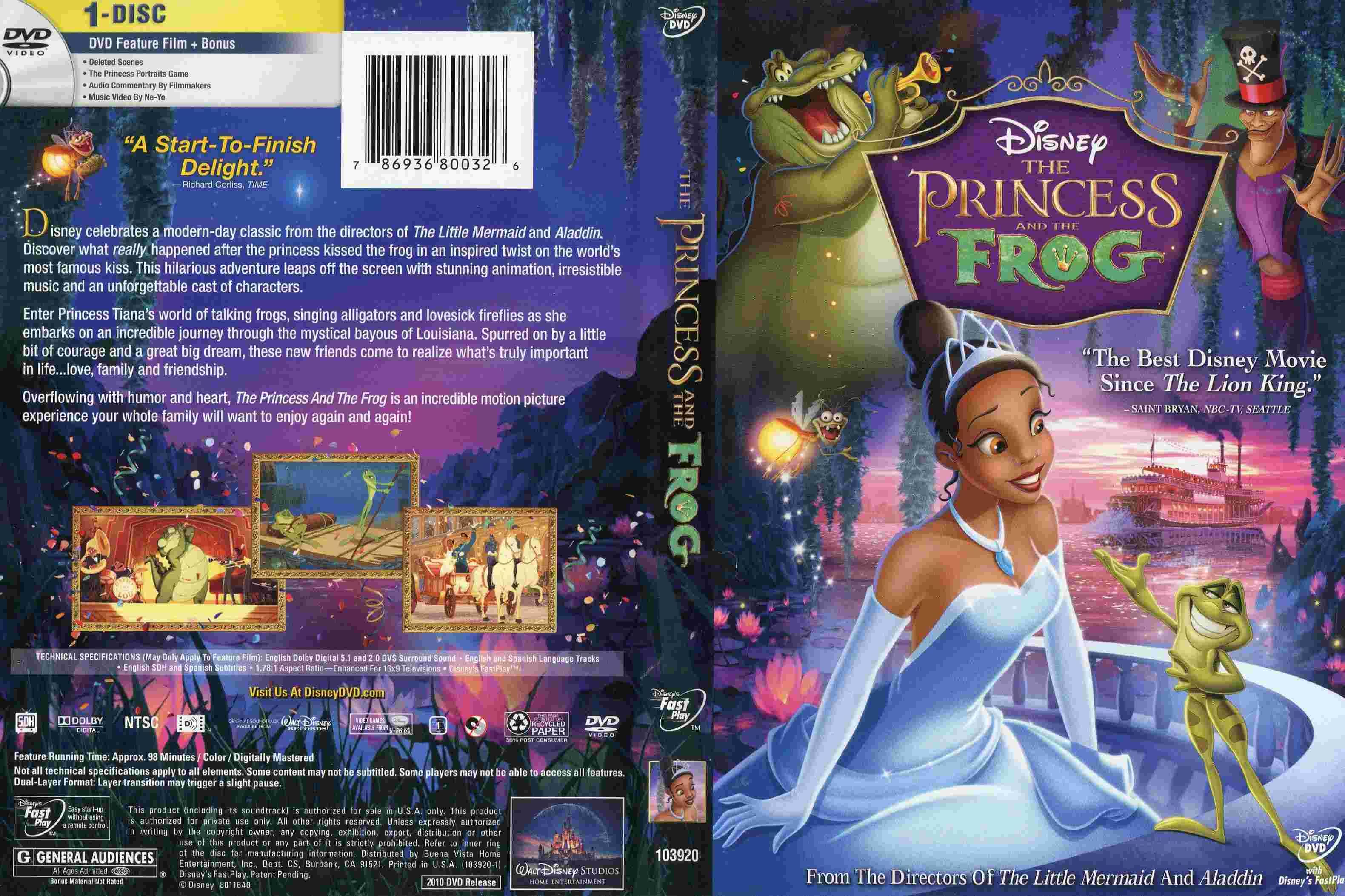 [BD + DVD] La Princesse et la Grenouille (27 mai 2010) - Page 6 The_pr10