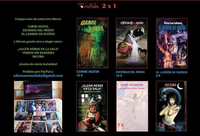2x1 en Tusitala (hasta el 31 de diciembre) Tusita12