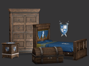 Спальни, кровати (средневековье) Image723