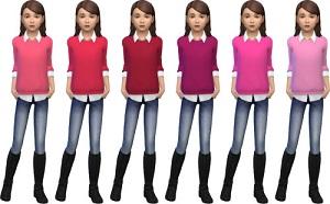 Для детей (топы, рубашки, свитера) - Страница 2 W-600124