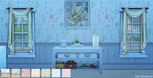 Обои, полы (цветочные узоры) Wsuban15