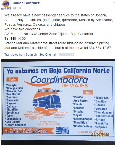 bus from cabo to Lapaz and bus from TJ to LAP Bus10