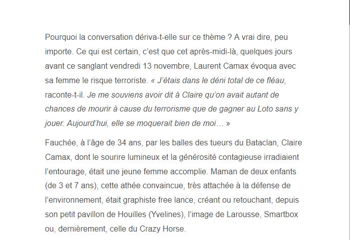 PARIS 13/11/2015 - Page 2 Claire11