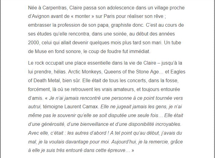 PARIS 13/11/2015 - Page 2 Claire12
