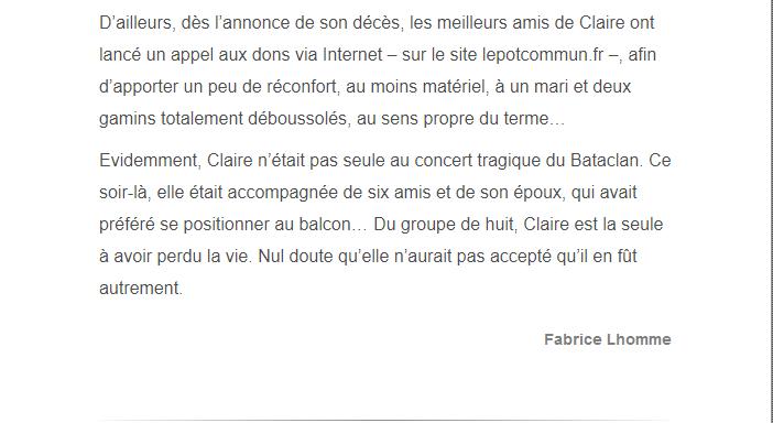 PARIS 13/11/2015 - Page 2 Claire13
