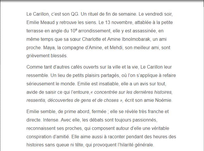 PARIS 13/11/2015 - Page 5 Emilie11