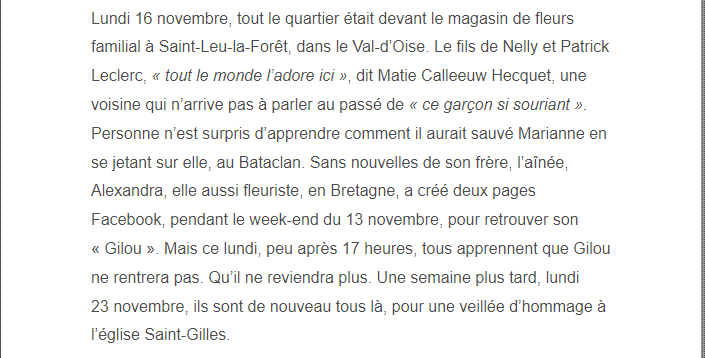 PARIS 13/11/2015 - Page 2 Gilles12