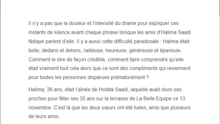 PARIS 13/11/2015 - Page 5 Halima11