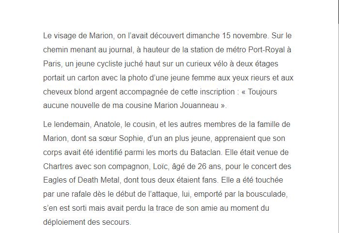 PARIS 13/11/2015 - Page 2 Marion15