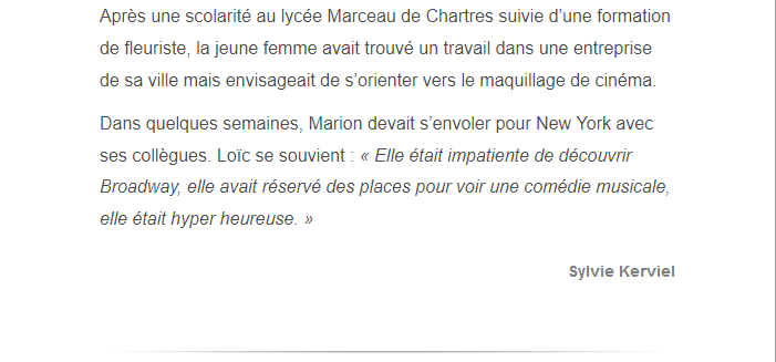 PARIS 13/11/2015 - Page 2 Marion17