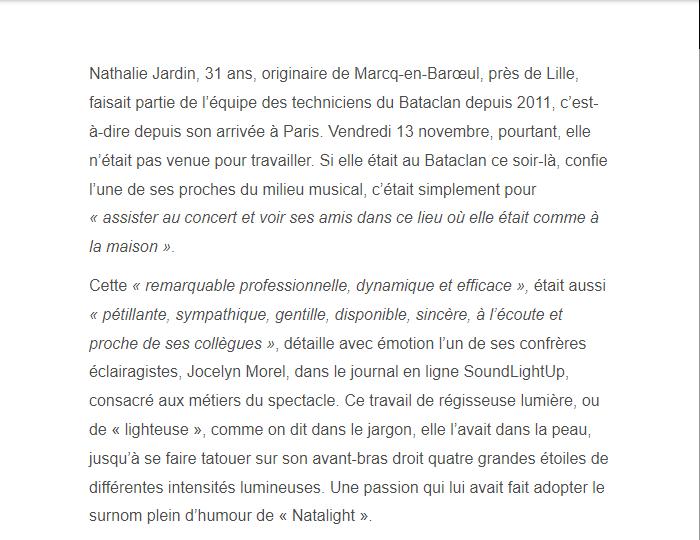 PARIS 13/11/2015 - Page 2 Nathal11