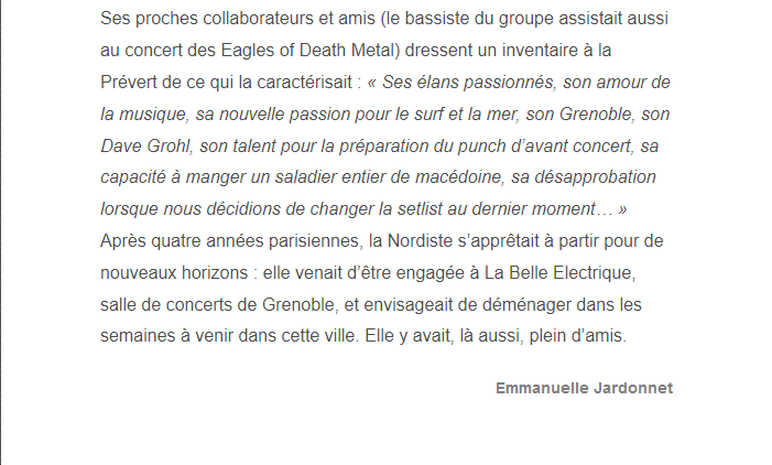 PARIS 13/11/2015 - Page 2 Nathal13