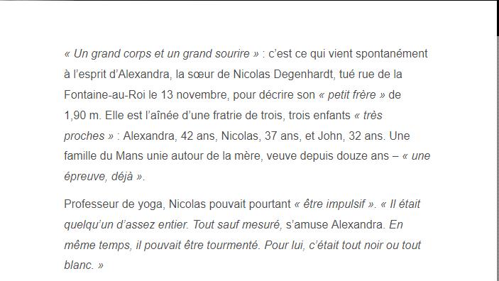 PARIS 13/11/2015 - Page 4 Nicola11
