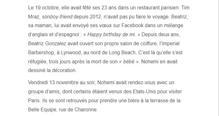 PARIS 13/11/2015 - Page 2 Nohemi13