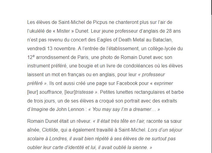 PARIS 13/11/2015 - Page 2 Romain11
