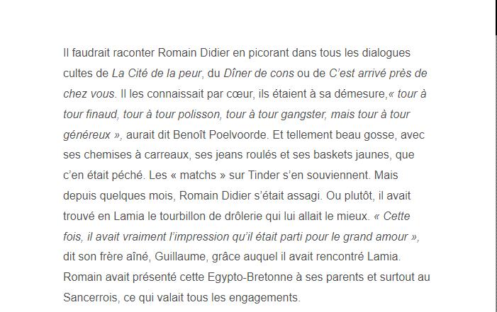 PARIS 13/11/2015 - Page 5 Romain19