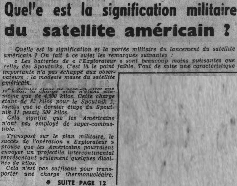 01 février 1958 - Explorer 1 - Les US démarrent la course 58020510