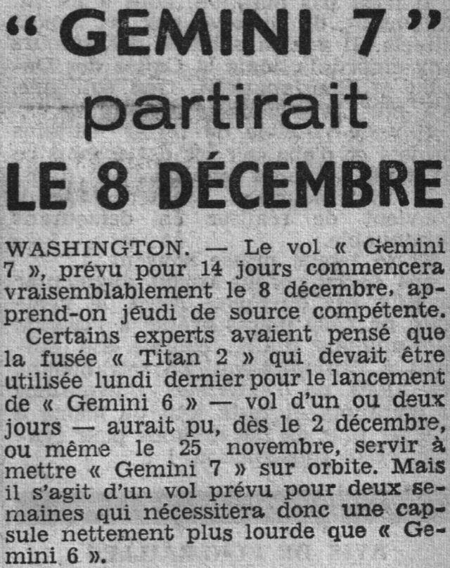 4 décembre 1965 - lancement de Gemini 7 65102910
