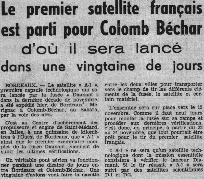 26 novembre 1965 - La France 3ème puissance spatiale 65110610