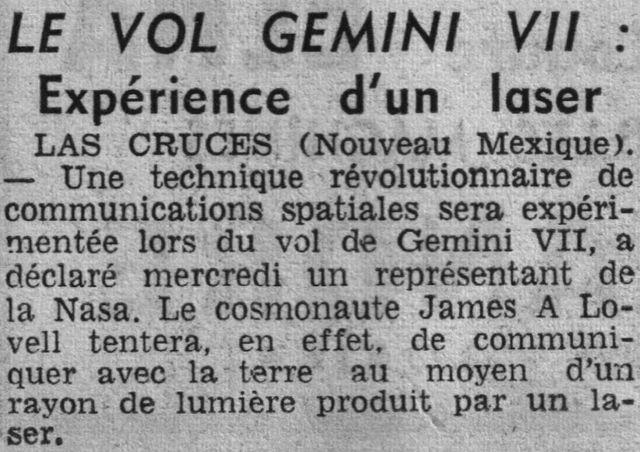 4 décembre 1965 - lancement de Gemini 7 65111910