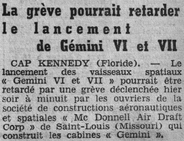 4 décembre 1965 - lancement de Gemini 7 65112010