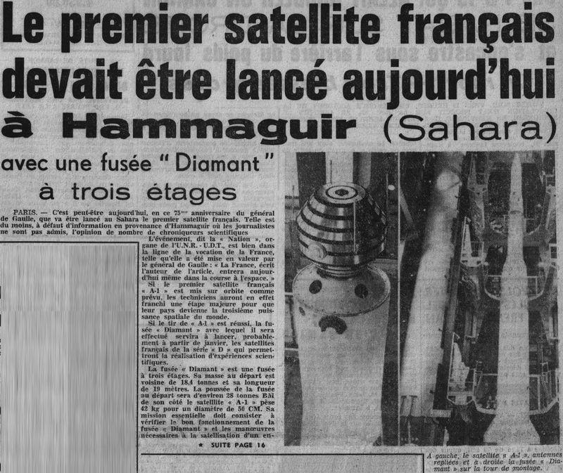 26 novembre 1965 - La France 3ème puissance spatiale 65112310