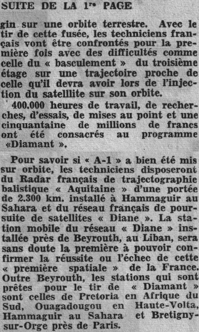 26 novembre 1965 - La France 3ème puissance spatiale 65112311