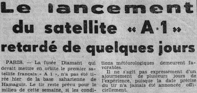 26 novembre 1965 - La France 3ème puissance spatiale 65112410