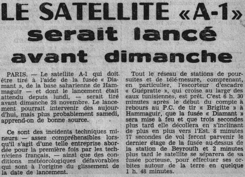 26 novembre 1965 - La France 3ème puissance spatiale 65112711