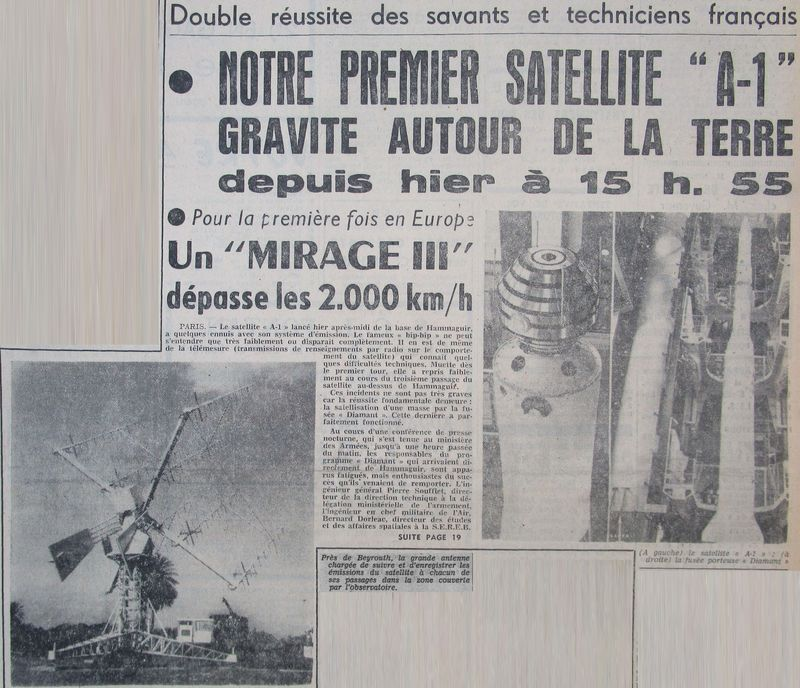 26 novembre 1965 - La France 3ème puissance spatiale 65112910