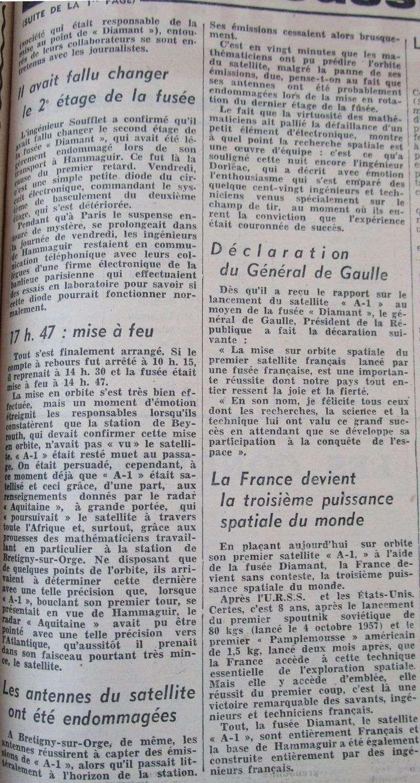 26 novembre 1965 - La France 3ème puissance spatiale 65112911