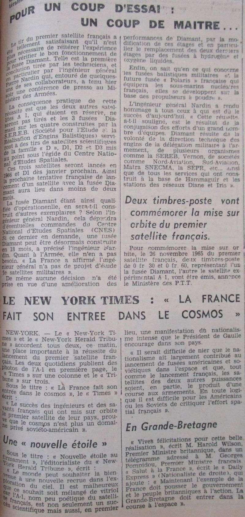 26 novembre 1965 - La France 3ème puissance spatiale 65112912