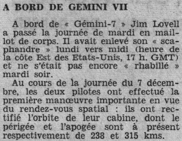 4 décembre 1965 - lancement de Gemini 7 65120910
