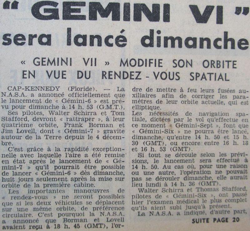 4 décembre 1965 - lancement de Gemini 7 65121110