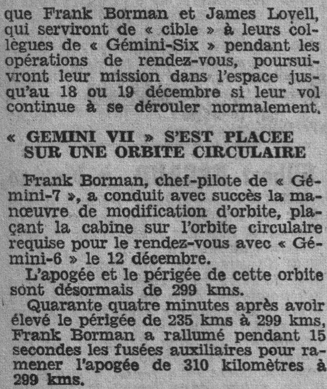 4 décembre 1965 - lancement de Gemini 7 65121111
