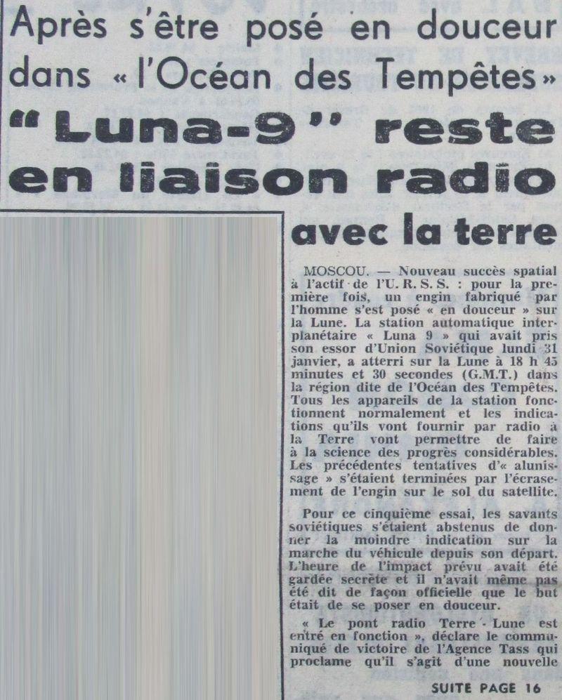 31-1-1966 - Luna 9 - 1er atterrissage en douceur sur la Lune 66020511