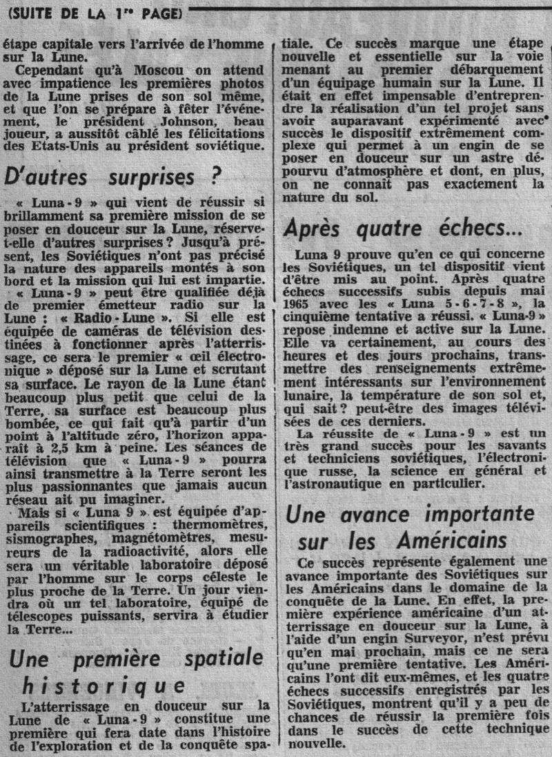 31-1-1966 - Luna 9 - 1er atterrissage en douceur sur la Lune 66020512