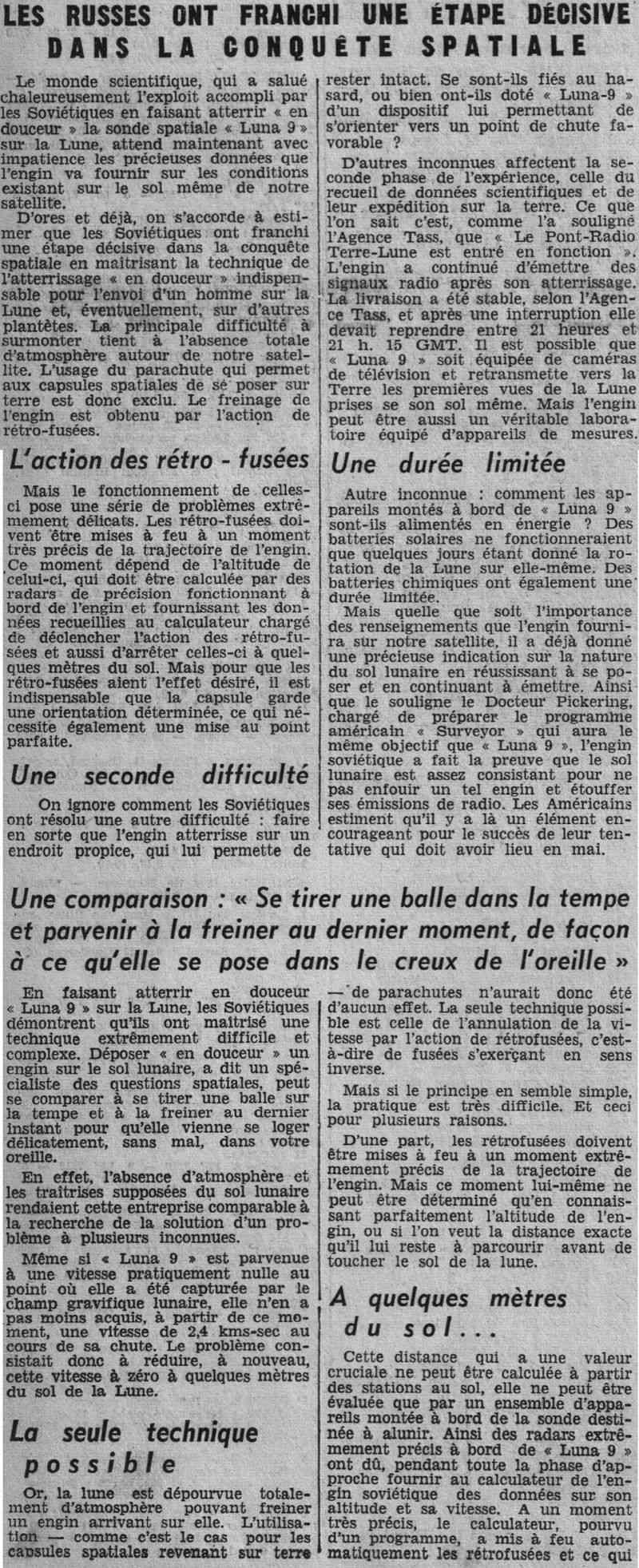 31-1-1966 - Luna 9 - 1er atterrissage en douceur sur la Lune 66020513