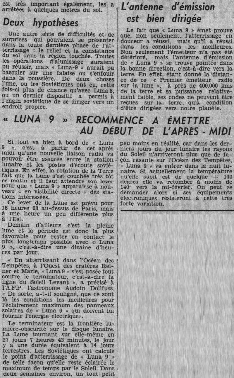 31-1-1966 - Luna 9 - 1er atterrissage en douceur sur la Lune 66020514