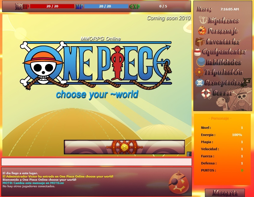 Proyecto One Piece Online ~choose your world Interf10