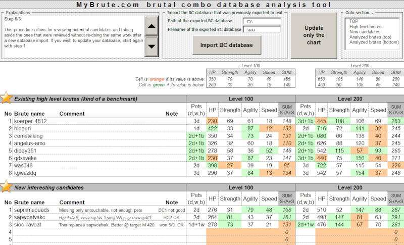 BC databases to Excel P611
