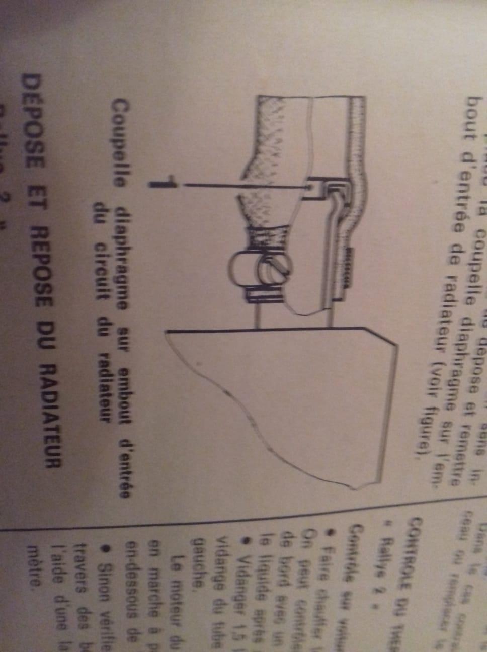 Cupelle diaphragme sur embout d'entrée du circuit du radiateur Img-2010