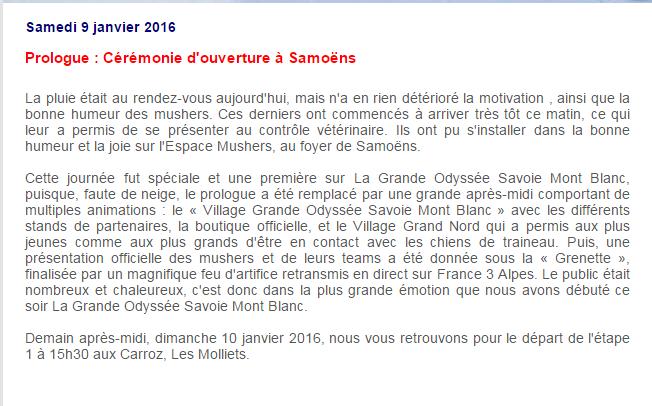 La GRANDE ODYSSÉE 2016 09-0110