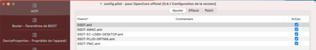 [résolu] OPENCORE : Probléme Dual Boot - HD4600 : Problème sortie suspension activité automatique Captur17